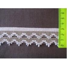 К68 Тесьма серо-белая. 35мм