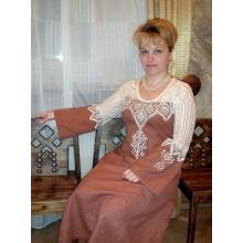 Обережная одежда на заказ. Платье ручной работы