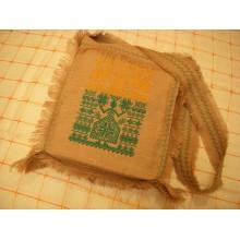 Этническая льняная сумка с изображением Макоши (Предзаказ)