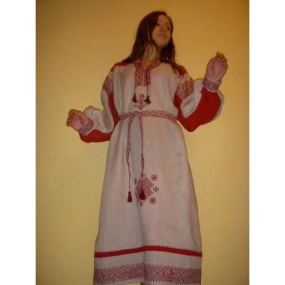 Женская праздничная рубаха, выполнена по старинной технологии (Предзаказ)