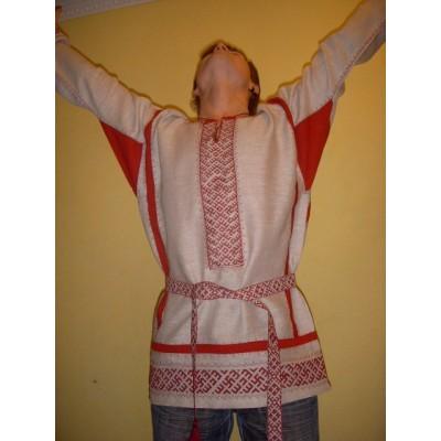 Мужская праздничная рубаха, выполнена по старинной технологии (Предзаказ)
