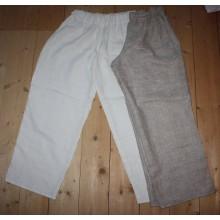 Штаны мужские льняные белые и серые, на заказ