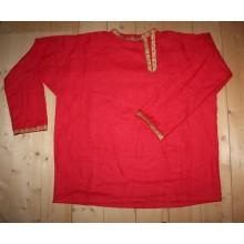 Рубаха мужская народная красная ткань, на заказ