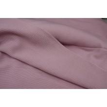 216. Розовый в полоску. Пальтовая шерстяная ткань.
