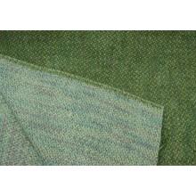 223 Белый в разноцветный пунктир. Пальтовая шерстяная ткань.