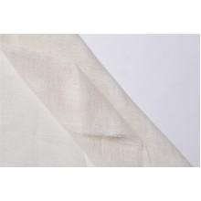 09с9 Молочная сетка в полоску. Декоративная ткань. 1,5 м ширина.