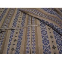 3-24 Лён скатёрный с цветочным орнаментом