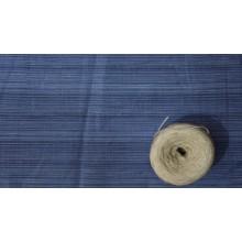 30-7 Синий лён в полоску. Платьевая ткань.