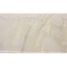 1-4 Скатертный лён. Бледно-желтый с белыми цветами