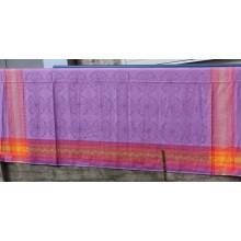 """9СК-1 (7-4) Скатертная ткань. Фиолетовый лён с рисунком """"Галадриэль"""""""