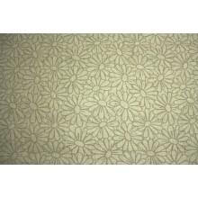11ДК-4 (23-9) Небелёный лён с ромашками. 1,6 м ширина. Декоративная ткань