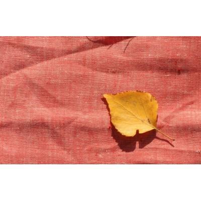 16-5 Костюмная ткань. Коралловый лён с белой нитью