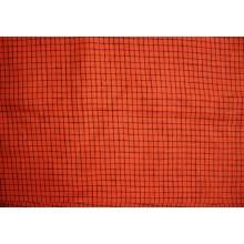 7-9 Красный лён в черную клетку