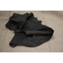 14-10 Темно-серый лён в полоску елочку
