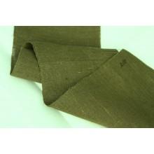 Л10 Темно-зеленый лён в болотном оттенке. Скатертная ткань