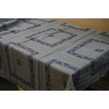 """12СК-2 (24-11) Лён Рис. """"Дэвасвит"""". Скатертная ткань с купонами-салфетками. (Распродажа)"""