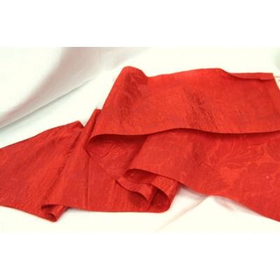 """3БЛ-1 (6-12) Красный лён с вискозой 30%. Рис. """"Листья"""". Бельевая ткань."""