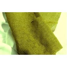 3-12 (6ДК-3) Оливковый лён с квадратами в мелкую сетку. Декоративная ткань.