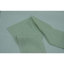 5-14 Бледно-зеленый лён с рисунком. Костюмная ткань.