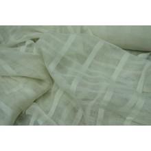 5-16 МОЛОЧНЫЙ ЛЁН с продольными полосками. Декоративная ткань.