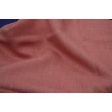 16-17 Лоскут Светло-коралловый лён. Костюмная ткань.