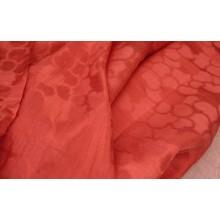 22-17 Красный лён с сердечками с вискозой (30%). Бельевая ткань.