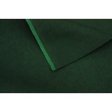 12-18 Темно-зеленый лён саржевого переплетения. Костюмная ткань.
