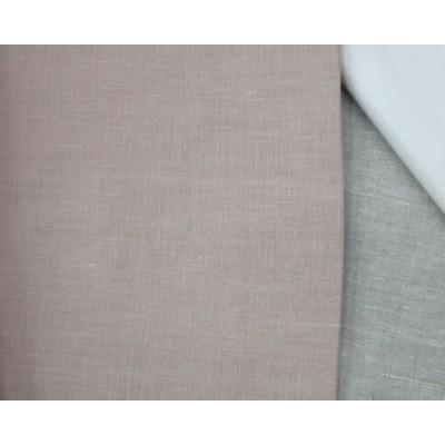 8-19 Лоскуты. Бежево-розовый лён 1,5 м. Костюмная ткань