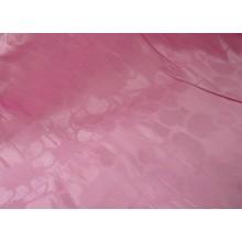 """13-19 Розовый лён """"Сердечки"""" с вискозой 1,5 м шириной. Постельная ткань"""