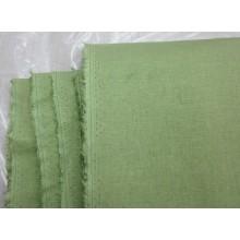 18-19 Стрейчевая ткань. Лён с добавками. Светло-зелёный 1,35 м ширина.