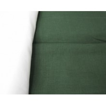 1-24  Тёмно-зелёный лён.  Костюмная ткань. 1,5 м ширина