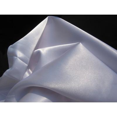 5Р Атлас белый стрейч, полиэстр, спандекс. 1,5 м ширина (Распродажа)