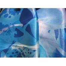 6Р атлас голубой стрейч, полиэстр, спандекс. 1,5 м ширина (распродажа)
